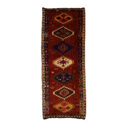 eSaleRugs - 4' 9 x 11' 11 Shiraz-Lori Persian Runner Rug - SKU: 110891932 - Hand Knotted Shiraz-Lori rug. Made of 100% Wool. 30-35 Years.