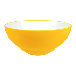 Waechtersbach - Uno Set of 4 Soup/Cereal Bowls Curry - Give your morning cereal a kick with this set of four bright bowls. Made from porcelain with a contrasting white interior, they're dishwasher safe and great to mix and match with dishware in different colors.