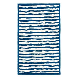 """Safavieh - Safavieh Safavieh Kids SFK215A, Blue, 2'3""""x7' Rug - This hand tufted is made with premium New Zealand wool lending a lush and warm feel that will go great in any child's play area or bedroom."""