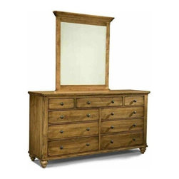 Durham Furniture - Durham Furniture Hudson Falls Triple Dresser in Aged Wheat - Durham Furniture has been making solid wood furniture of the highest quality and enduring value since 1899. Our proud legacy of quality, integrity and dependability places us among North America's premier manufacturers of fine furniture.