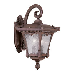 "Livex Lighting - Livex Lighting 7983 Millstone 17.5 Inch Tall Top Mount Outdoor Wall Sconce - Livex Lighting 7983 Millstone Two Light Outdoor Wall SconceA flawless design with a lot of detail to admire, the Millstone two light 17.5"" tall outdoor top mount wall sconce is covered in leafy baroque accents that lend it an elegant quality not found in most outdoor lighting.Livex Lighting 7983 Features:"