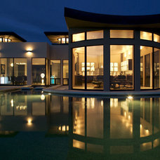 Contemporary Exterior by Trish Odenthal Lighting Design