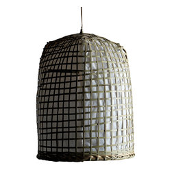 Artemano - Handmade Bamboo and Rice Paper Hanging Lamp - Allow natural charm into your home with the Bamboo and Rice Paper Hanging Lamp.  Intricately handcrafted by skilled artisans, these one-of-a-kind suspended lamps creates a warm, subtle glow perfect for any space.  Stunning on its own, a true jaw dropper when displayed in groups.