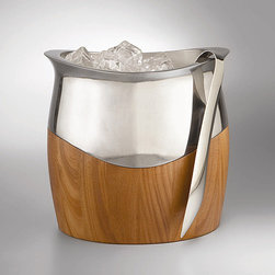Nambe Cradle Ice Bucket with Tongs - Make sure you've got the rocks ready to serve with this totally gorge ice bucket and tongs set. This is the perfect gift for a stock the bar party, a wedding, or the best, for yourself.