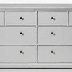 Tvilum - Somerset 8 Drawer Double Dresser - Features: -Collection: Somerset. -Construction material: Composite wood. -Eight drawers. -Environmentally friendly materials and manufacturing methods.
