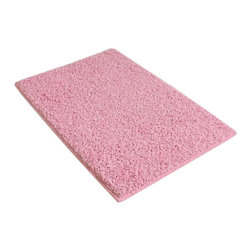 """Koeckritz - 7'X9' Indoor Area Rug - Princess Pink 37Oz - These beautiful TWISTED SHAG FRIEZE - Made of a Polyester Filament Fiber and has a Face Weight of 37oz - Pile Height of 1""""+   Available in an array of various sizes to enhance your home.  The edge of these rugs are finished off with a matching soft nylon fabric tape that is sewn to the edge of the rug for a very clean finish.  Unsurpassed in quality and style without sacrificing affordability.  In addition to their beauty and durability, Koeckritz area rugs are made from superior materials and the right colors to express your personal style.  This rug is perfect for those that love vibrant colors.  Koeckritz area rugs are the premium choice when it comes to color and value as they provide unique interpretations for traditional and modern interiors.  Decorate the office, den, living room, dining room, kitchen or bedroom.  This rug will accent and add life to any room.  Dress up your floor with a luxurious rug from Koeckritz.  An extraordinarily thick construction ensures a superlative texture and years of lasting beauty. Permashield advanced stain protection allows the removal of most household stains.  Easy to clean.  Padding is recommended for all area rugs and carpet as it will prolong the rugs life. **Please Note that size and color representation are subject to manufacturing variance and may not be exact. Also note that monitor settings may vary from computer to computer and may distort actual colors. Photos are as accurate as possible; however, colors may vary slightly in person due to flash photography and differences in monitor settings. Each rug/carpet is manufactured with the same colors as pictured; however they can be manufactured from slightly different """"die lots"""". Meaning when the yarn is dyed it can vary in shade ever so slightly."""