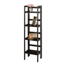 Winsome Wood - Winsome Wood 20852 4-Tier Folding Shelf in Black - Shelf 1
