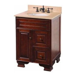 Foremost - Foremost Hartford 24 Inch Vanity Combo in Walnut Finish - Foremost Hartford 24 Inch Vanity Combo in Walnut Finish
