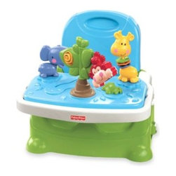 Fisher Price - Fisher-Price Discover' n' Grow Busy Baby Booster - Give baby a boost at the table and keep them entertained, while you prepare the night's meal. The removable deluxe toy insert gives baby cute animals to play with.