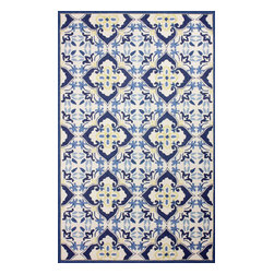 nuLOOM - Contemporary 5' x 8' Blue Hand Hooked Area Rug Trellis BL12 - Made from the finest materials in the world and with the uttermost care, our rugs are a great addition to your home.