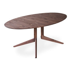 Light Oval Table - hivemodern.com - This table has all the angles covered. And the curves. A nod to mid-century Scandinavian design, its legs won't get in the way of your knees, and its oval shape will encourage conversation.