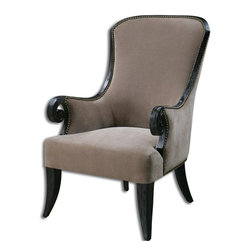 Uttermost - Kandy Taupe Armchair - Kandy Taupe Armchair