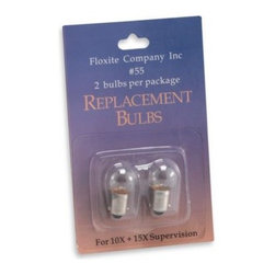 Floxite Company, Inc. - Floxite Replacement Bulb (Set of 2), Model # FL-355 - Replacement bulbs for the Floxite Illuminating Mirrors (Set of 2), model # FL-355.