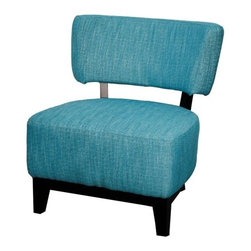 NPD (New Pacific Direct) Furniture - Mason Chair by NPD Furniture, Topaz Blue - Comfort and durable, this Mason fabric accent chair with solid birch wood frame will be a great addition to your living area.