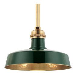 Hudson Valley Lighting - Hudson Valley Lighting 8614-GAGB Hudson Falls Aged Brass Pendant - Hudson Falls Valley Lighting 8614-GAGB Hudson Falls Aged Brass Pendant