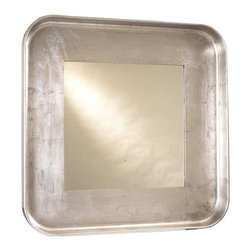 French Heritage Round/Square Mirror - Love the way you look! Your reflection will be beautifully framed in this large silver-leaf mirror. A delightful amalgamation of classic and contemporary design, it's practically a work of art all on its own.
