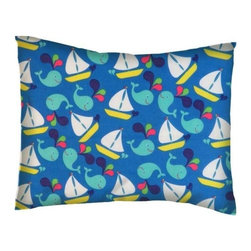 SheetWorld - SheetWorld Twin Pillow Case - Percale Pillow Case -Whale Watching - Made in USA - Twin pillow case. Made of an all cotton woven fabric. Side Opening. Features a cute sale boat and whale print.