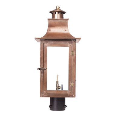 ELK - Elk Lighting 7914-WP Outdoor Gas Post Lantern Maryville Collection - Outdoor Gas Post Lantern Maryville Collection In Solid Brass With An Aged Copper Finish