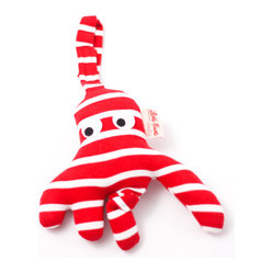 K�the Kruse - Safety Seat Hanger Octopus - This little octopus came out of his garden in the shade to keep your little one entertained. It comes in nautical stripes of either red or blue and white with a hanger for baby's safety seat. Oh, what joy for every gir