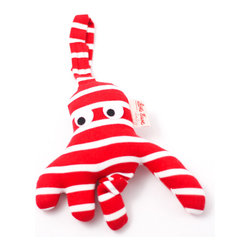K�the Kruse - Safety Seat Hanger Octopus - This little octopus came out of his garden in the shade to keep your little one entertained. It comes in nautical stripes of either red or blue and white with a hanger for baby's safety seat. Oh, what joy for every girl and boy — knowing they're happy and they're safe.