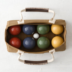 J. Franklin Field Day Bocce Ball - Take the party outside with this beautifully designed, colorful bocce ball set. I never win, but I think this game is so fun!
