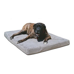 "MaxComfort - 4"" BioMedic Memory Foam Dog Bed - BioMedic Memory Foam Dog Beds will never sag or flatten. Guaranteed, for the life of your pet! These terrific pet beds are perfect for senior or challenged dogs, are veterinarian approved and recommended and are available in six sizes, so one will be absolutely perfect for your dog! Use 4"" beds for pets up to 100 lbs. BioMedic Memory Foam dog beds are not only the most comfortable sleep surface ever invented for your dog, they are also much denser than other dog beds. This results in the 4"" dog bed (2"" support foam, 2"" memory foam) providing a great deal more comfort than other beds more than twice as thick; 8"" BioMedic Memory Foam Dog Beds are also available. BioMedic Memory Foam dog beds are perfectly balanced with the orthopedic support foam necessary to ease sore aching joints and the incredible ability of memory foam to precisely conform and mold to the exact shape of your dog. This distributes pressure evenly over the entire surface providing unmatched comfort and rejuvenating rest. Features: -Veterinarian approved and recommended -Perfect for senior or challenged dogs -Removable washable cover -For dogs up to 100 lbs. Sizes: -Small: 20"" W x 26"" D -Medium: 26"" W x 40"" D -Large: 30"" W x 48"" D -X-Large: 36"" W x 52"" D -Giant: 48"" W x 60"" D -Huge: 52"" W x 72"" D"