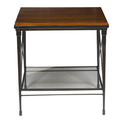Vanguard - Joyner Lamp Table / Wood Top P428L-FB - Personalized Finish Options Available. See Price List for Details.