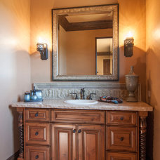 Mediterranean Bathroom by Precision Cabinets