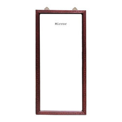 Golden Lotus - Chinese Red Wood Carving Frame Tall Floor Mirror - This is a Chinese floor mirror which is made of solid red wood.