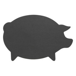 Epicurean® Natural Dishwasher-Safe Pig Board - Our exclusive animal versions of the eco-friendly Epicurean board cutting board bring farmhouse charm into your kitchen. This easy-care, eco-friendly pig cutting board is handcrafted in Minnesota from sustainably harvested American wood. The construction process uses wood pulp certified by the Forest Stewardship Council (FSC), a nonprofit organization that encourages responsible management of the world's forests. Food-safe resin is added in a technique that dramatically reduces waste, while Greenguard certification assures adherence to strict chemical emission standards, contributing to healthy homes. Dishwasher-safe board will not warp, crack or dull cutlery.