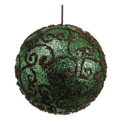 Silk Plants Direct - Silk Plants Direct Swirl Ball Ornament (Pack of 4) - Pack of 4. Silk Plants Direct specializes in manufacturing, design and supply of the most life-like, premium quality artificial plants, trees, flowers, arrangements, topiaries and containers for home, office and commercial use. Our Swirl Ball Ornament includes the following: