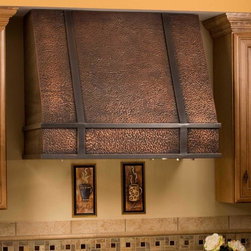 """30"""" Limoges Series Copper Wall-Mount Range Hood - Complete your gourmet kitchen with the stunning Limoges Wall-Mount Range Hood. This tall copper range hood features dimmable lights and washable filters."""