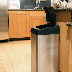 Smart Home - As you are cooking, washing, feeding your kids, or juggling tasks at the office, quickly dispose your trash along the way with the new iTouchless MX Model automatic sensor trash can. Team up with iTouchless, and let this trash can make life easier for you. When your hand or any object approaches within 6 inches of the built-in infrared sensor, the lid automatically opens. Then, as you walk away, it closes automatically to prevent odor from escaping. Since there is no direct contact with the can or lid, it eliminates the spread of germs and allows you to continue with your tasks without washing hands over and over again.