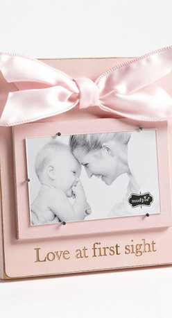 Mud Pie 'Love At First Sight' Wooden Picture Frame (3x5) - A rustic wooden picture frame easily allows you to slip your favorite photo of your darling one underneath silver nails that will keep pictures in place without causing wear and tear.A rustic wooden picture frame easily allows you to slip your favorite photo of your darling one underneath silver nails that will keep pictures in place without causing wear and tear. Color(s): blush. Brand: MUD PIE. Style Name: Mud Pie 'Love At First Sight' Wooden Picture Frame (3x5). Style Number: 621635_1.