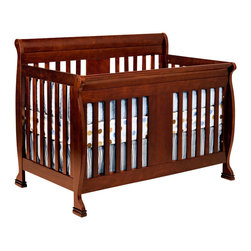 Da Vinci - DaVinci Porter 4-in-1 convertible Crib in Cherry Including Toddler Rails - Da Vinci - Cribs - M8501C - Crafted as meticulously as all DaVinci products are the Porter Crib will keep your baby safe in his slumber.  With easy conversions the crib turns into a toddler bed daybed and full size bed when your baby is ready.  Its sturdiness and classic lines are sure to make the Porter the centerpiece of your nursery.  Available in cherry espresso and white.