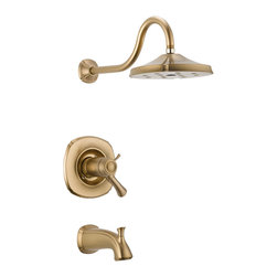 Delta TempAssure(R) 17T Series Tub and Shower Trim - T17T492-CZ - Inspired by the delicate scallops of a seashell, Addison brings a fresh, inviting look - and a multitude of options - to your decor.