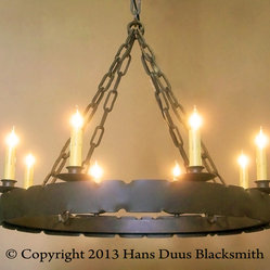 Notched Ring Chandelier