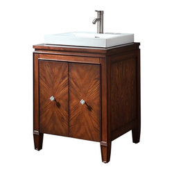 Avanity - Avanity Brentwood Vanity Only New Walnut - 2 wood-matched design soft-close doors