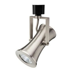 Lithonia Lighting - Lithonia Lighting Gavel 1-Light 10 in. Brushed Nickel Integrated LED Track Light - Shop for Lighting & Fans at The Home Depot. This modern contoured track head is designed for use with Lithonia Lighting and Hampton Bay track systems. It easily snaps into place anywhere along the length of track. You can adjust the direction of the head, making it perfect for accent lighting. Aiming it at decor or architectural features will add sophisticated style to your interior space.