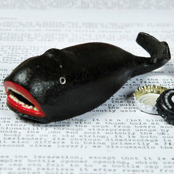 Whale Bottle Opener - So whimsical and fun, the Whale Bottle Opener is the ideal accessory for those who love the ocean and its wonderous creatures. Made from cast iron, this accessory does double duty and opens bottles all while being extremely charming. Makes a thoughtful gift for those with a penchant for coastal style or natures most majestic creatures.