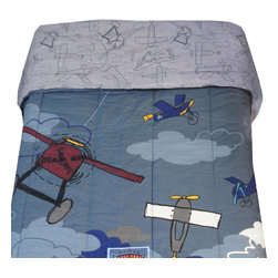 Jay Franco and Sons - Disney Plane Crazy Full Bed Comforter Reversible Blanket - Features: