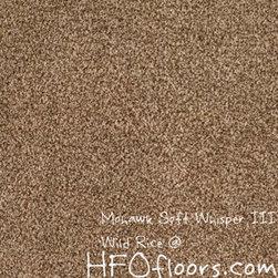 Mohawk Carpet Soft Whisper III - Mohawk Soft Whisper III, Wild Rice  12' wear dated Nylon carpet. Available at HFOfloors.com.
