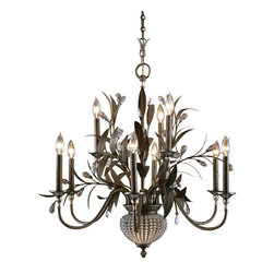 Uttermost - 9 Light 2 Tier Chandelier With 2 Down Lights - Uttermost is one of the largest manufacturers of interior lamps, wall art, clocks, rugs and framed mirrors in the United States, attributing its success to maximizing product value through better design and sharp pricing. The clever accent and lighting designs that Uttermost has to offer are utterly one-of-a-kind masterpieces that will make a statement in any home. Uttermost's mission is simple, to make great home accessories at a reasonable price.