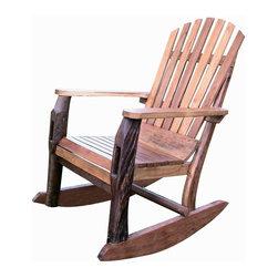 Groovystuff - Groovystuff Adirondack Rocking Chair in Honey - Groovystuff Adirondack Rocking Chair in Honey