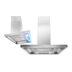 AKDY - AKDY AG-ZH308A Euro Stainless Steel Wall Mount Range Hood - Designed to hang freely and act as a focal point above your kitchen wall, the AKDY H308A 30 in. range hood. It is equipped with two 2-watt LED bars that provide brilliant task lighting. The 3-speed blower features a 760 CFM and multi-speed control provide quiet, effective performance.