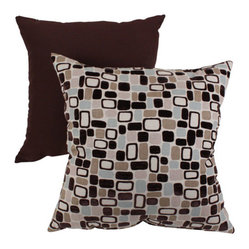 Decorative Brown and Blue Pebbles 16.5-Inch Square Toss Pillow
