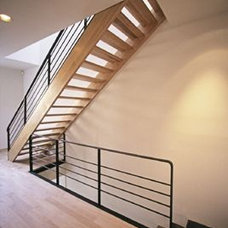 Contemporary Staircase by Eisner Design LLC