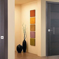"""Dominika"" hallway interior doors. - Extremely well made. The door is solid, finished with 1mm natural oak veneer. $460 including door frame, handles and mortise hinges. Shipping is separate."