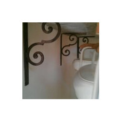 All Wood Cabinetry Kitchen - bathroom, contemporary bathrom, bamboo, lemon onyx, onyx, mirror, custom mirror, sconces, amber, tp holder, accessories, hardware, amber hardware, starfish, golden, kohler, toilet, bamboo sink,