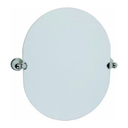 DHI-Corp - Allante Oval Pivot Mirror, Polished Chrome - The Design House 560979 Allante Oval Pivot Mirror swiftly tilts up and down and adjusts to your needs. Ez anchor mounts are included with this mirror for quick installation on drywall with (included) Teflon screws to secure the mirror to its brackets. Anchors are a cleaner alternative to plugs and they are well-known for their steadfast strength and intuitive design. Zinc holders are finished in chrome while the thin glass mirror is perfect for small bathrooms or closets. This mirror measures 19.7-inches by 15.75-inches by 3.1-inches. The Design House 560979 Allante Oval Pivot Mirror comes with a 1-year limited warranty that protects against defects in materials and workmanship. Design House offers products in multiple home decor categories including lighting, ceiling fans, hardware and plumbing products. With years of hands-on experience, Design House understands every aspect of the home decor industry, and devotes itself to providing quality products across the home decor spectrum. Providing value to their customers, Design House uses industry leading merchandising solutions and innovative programs. Design House is committed to providing high quality products for your home improvement projects.